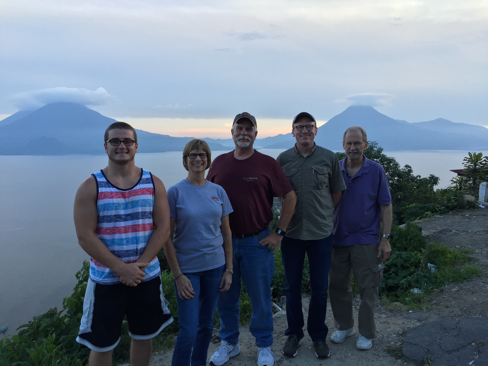 Guatemala Mission Team on a mountain