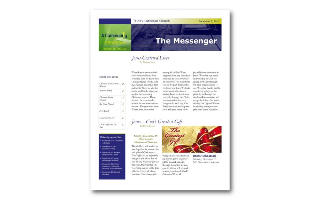 December 2, 2016, Messenger