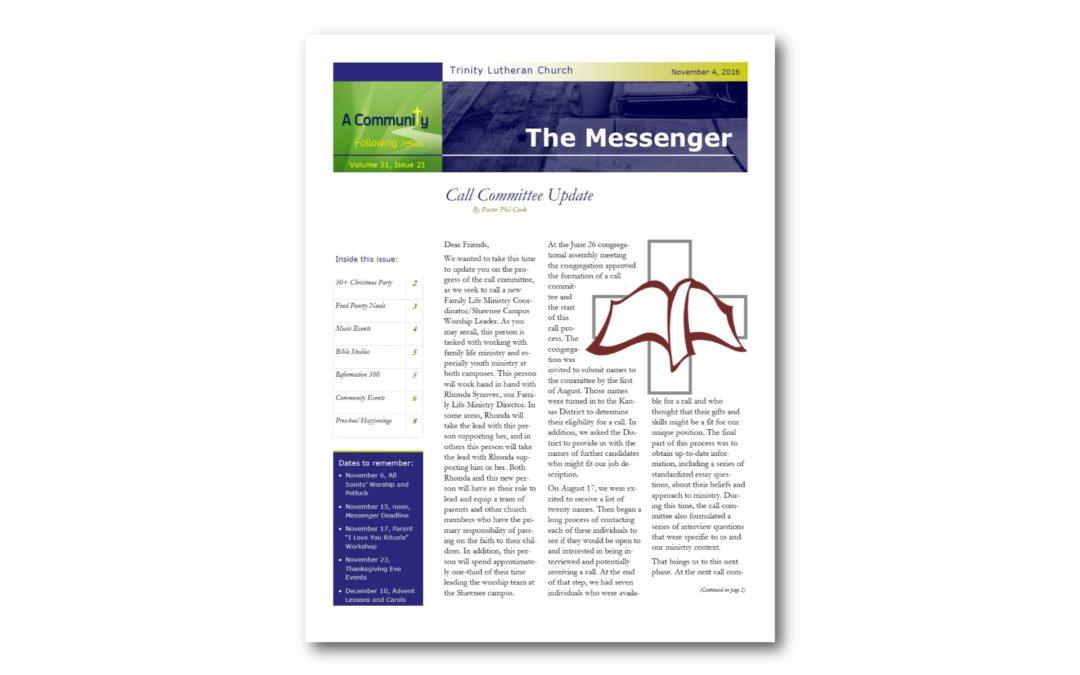 November 4, 2016, Messenger