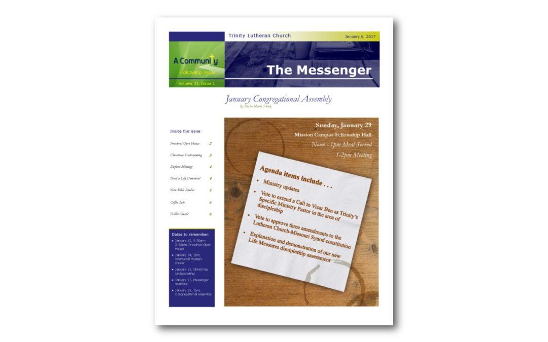 January 6, 2017, Messenger