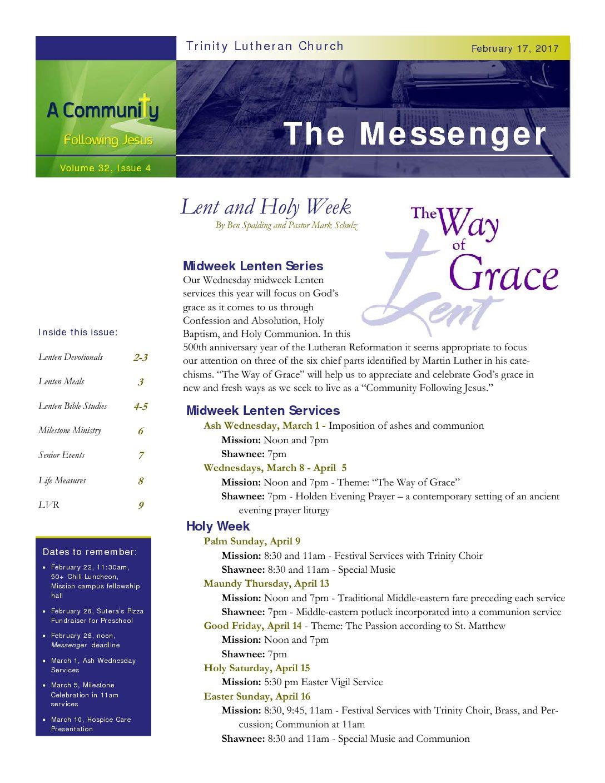 February 17, 2017, Messenger