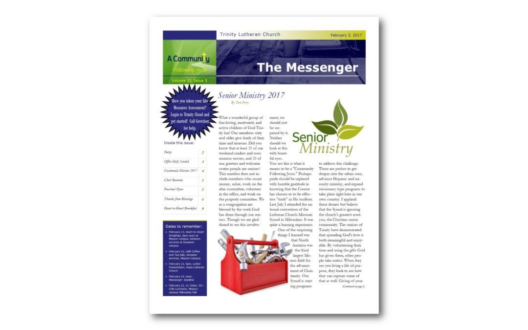 February 3, 2017, Messenger