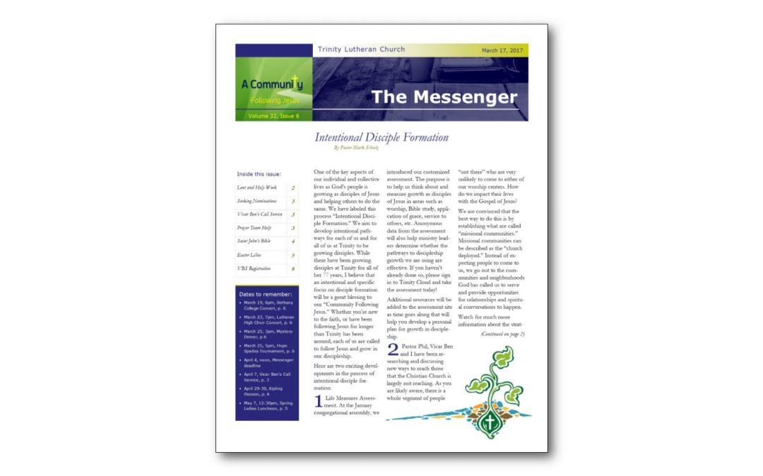 March 17, 2017, Messenger