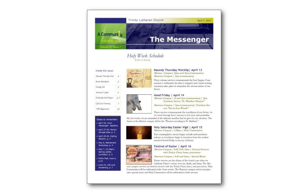 April 7, 2017, Messenger